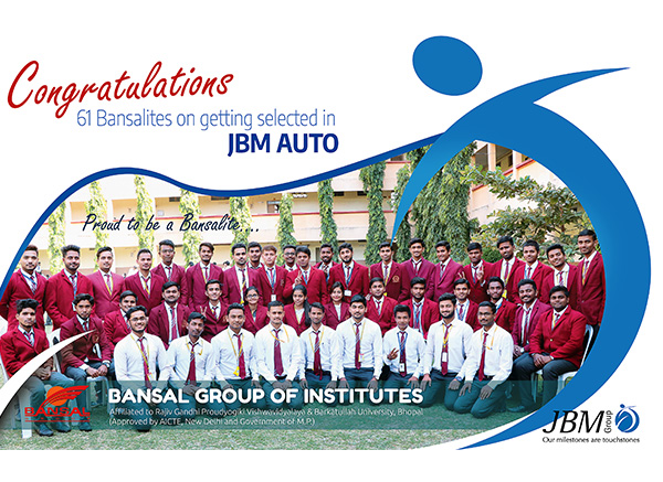 Campus Drive by JBM Auto for 2019 Batch