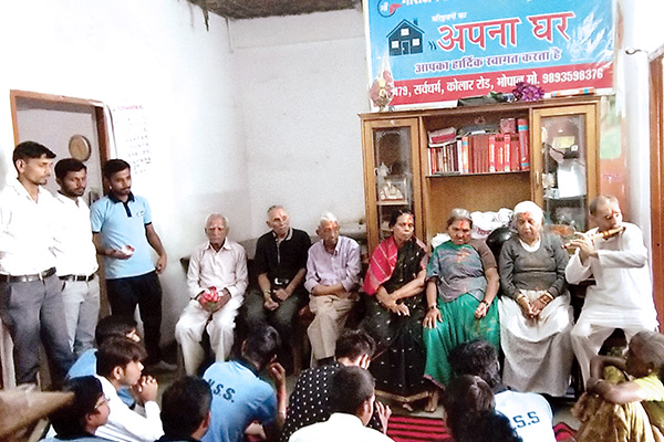 NSS Volunteers visit at Old Age Home