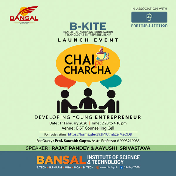 Developing Young Entrepreneur Programme<br>Chair Pe Charcha